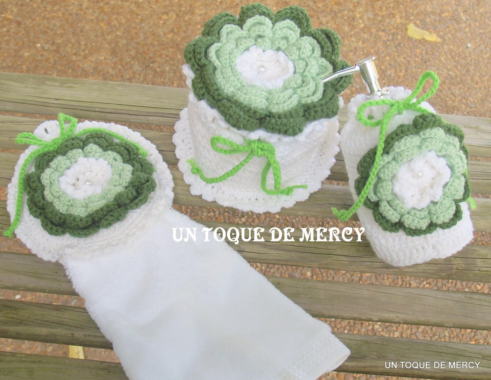 Que Lleva Un Set De Baño:UN TOQUE DE MERCY: SET PARA EL BANO DE CROCHET