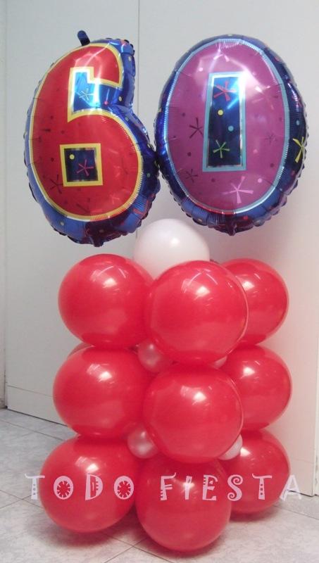 Decoraci n con globos de todo fiesta decoraciones para for Decoracion 60 30 10