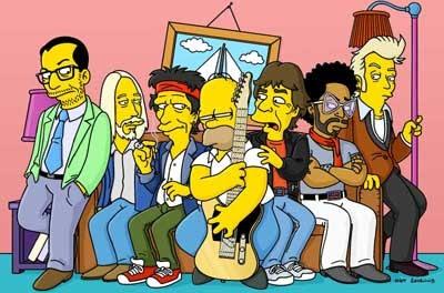 bandas de rock que aparecem nos simpsons