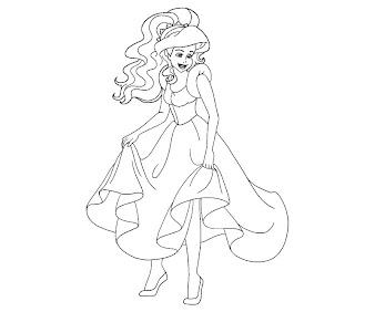#4 Ariel Coloring Page