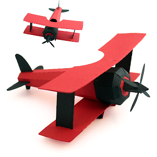3 under 3 and more 3d bi plane tutorial for Cut out airplane template