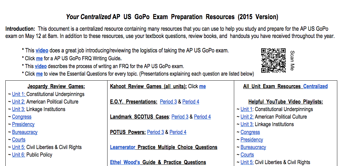 American Government Exam – CLEP – The College Board