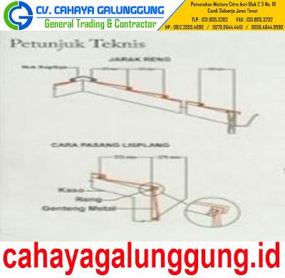 Genteng Metal Minimalis Dwi Warna