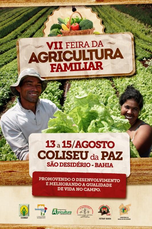 VII FEIRA DA AGRITULTURA FAMILIAR DE 13 A 15 DE AGOSTO