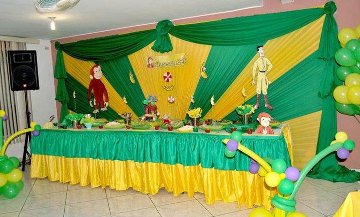 Como decorar todo para fiestas infantiles con telas imagui - Tela cortinas infantiles ...