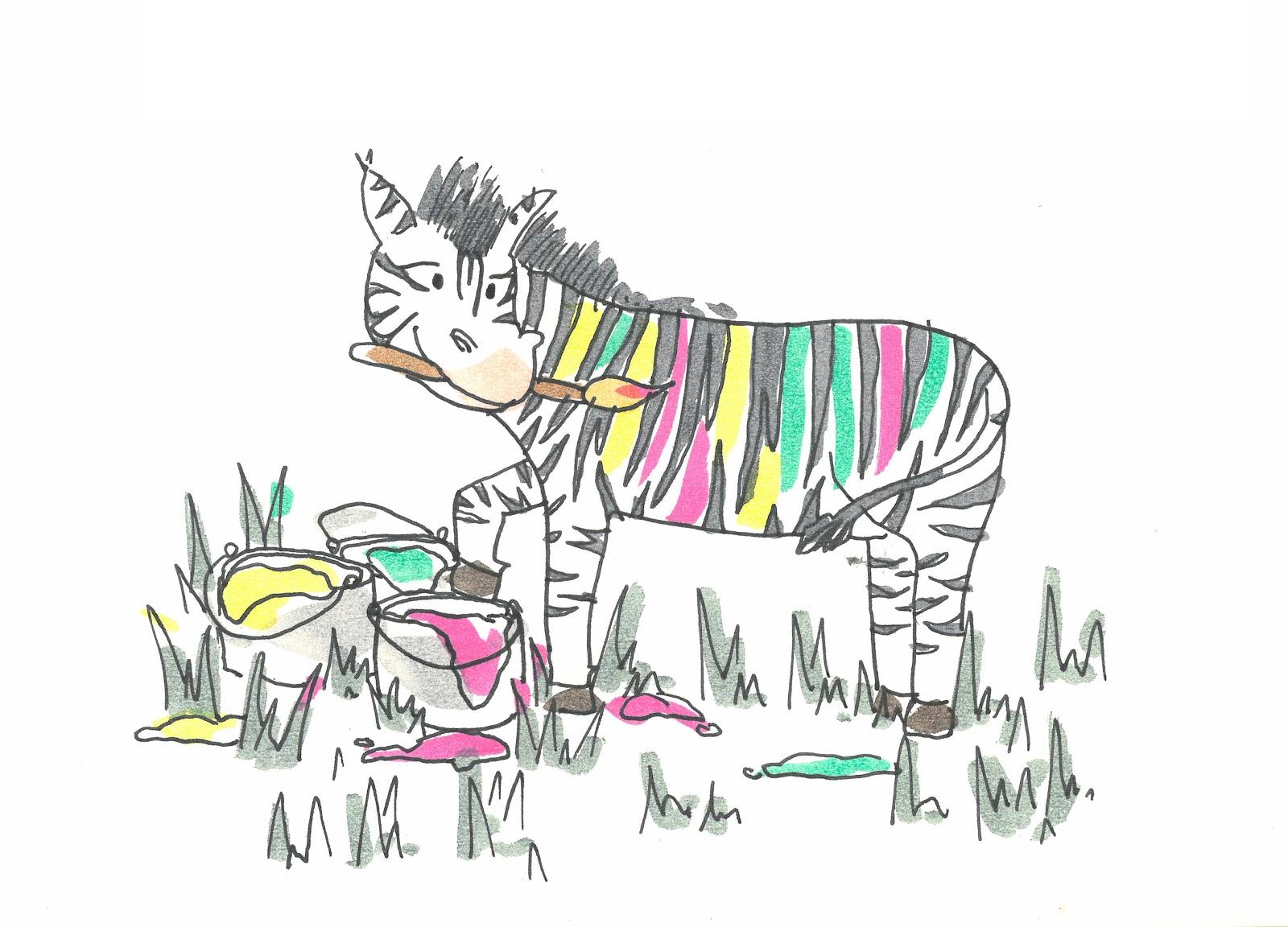 La cebra pintora | Cuentos infantiles cortos