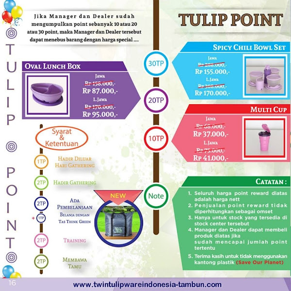 Tulip Point Reward Mei - Juni 2015