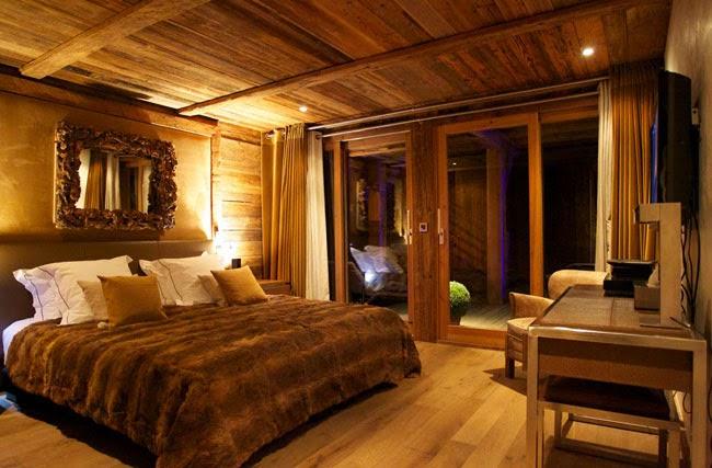 Estilo rustico casa chalet rustica en chamonix for Pared rustica interior