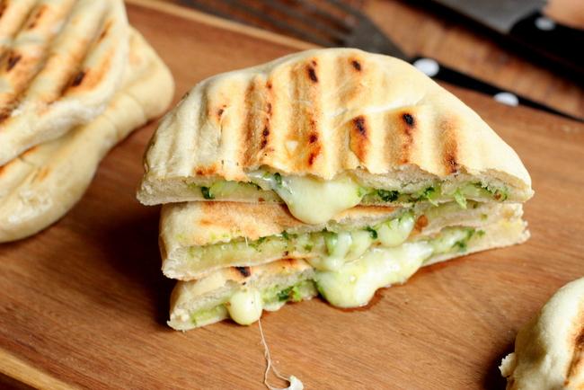 Mozzarella and Pesto Grilled Naan Bread #TwelveLoaves / Vintage ...