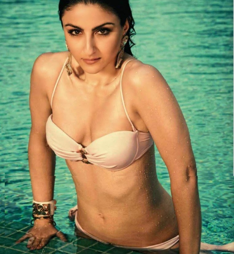 Actress Soha Ali Khan in Swimsuit for Maxim Magazine June 2014