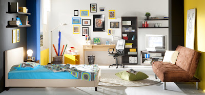 Teenage boy's bedroom design