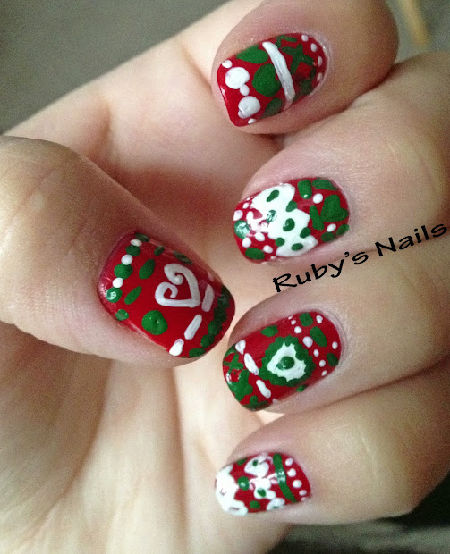 ruby's nails ugly christmas