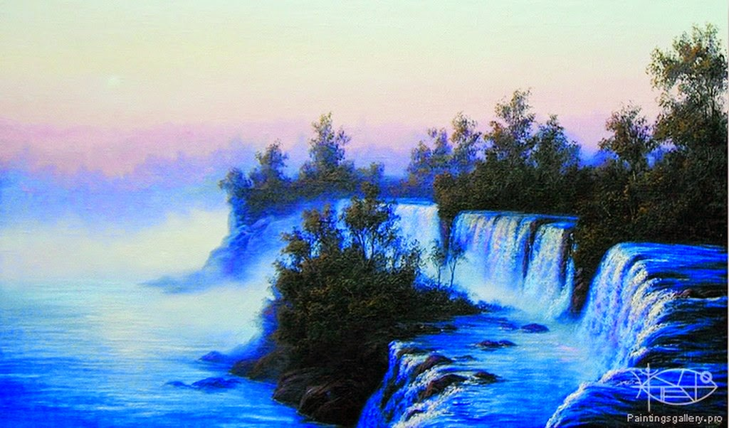 paisajes-con-cataratas-pintados-al-oleo