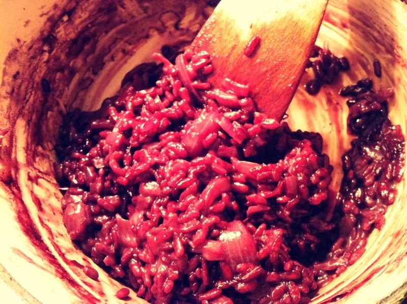 say food say me: red wine risotto