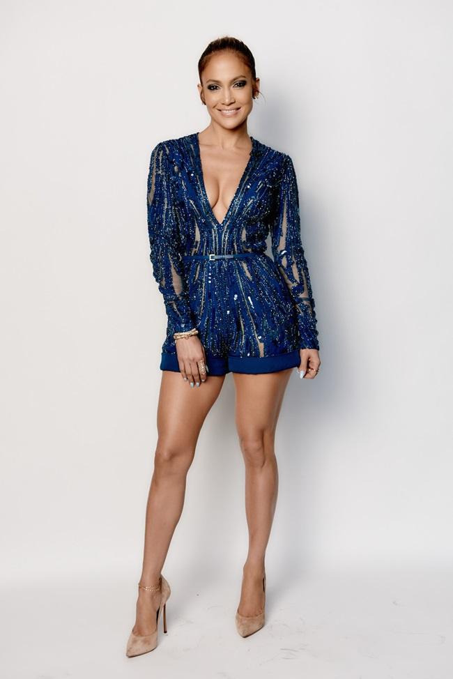 Elie Saab 2015 SS Electric-Blue Sparkling Short Jumpsuit on TV show