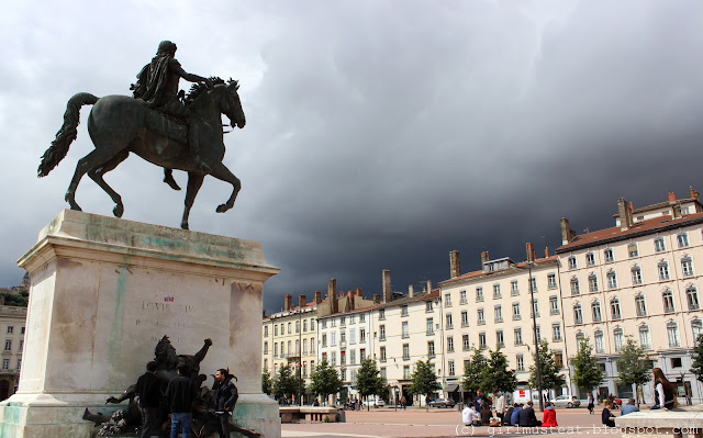Rain, Weather and a Bright Spell in Lyon, France