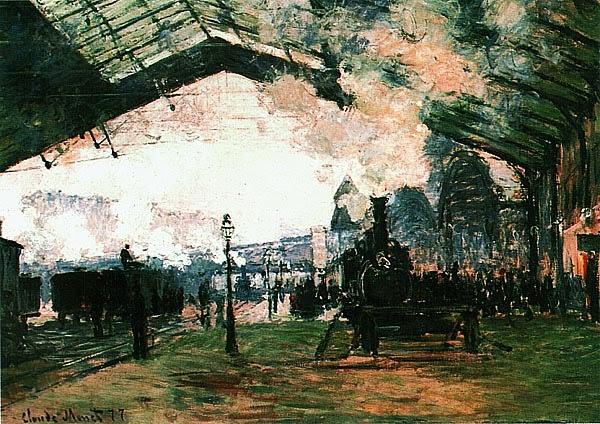 Клод Моне. Вокзал Сен-Лaзaр. 1876 — 1877.
