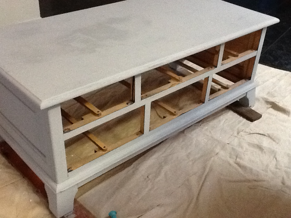 CeeCee Studio Almost Finished Annie Sloan Chalk Paint Coffee Table - Chalkboard paint coffee table