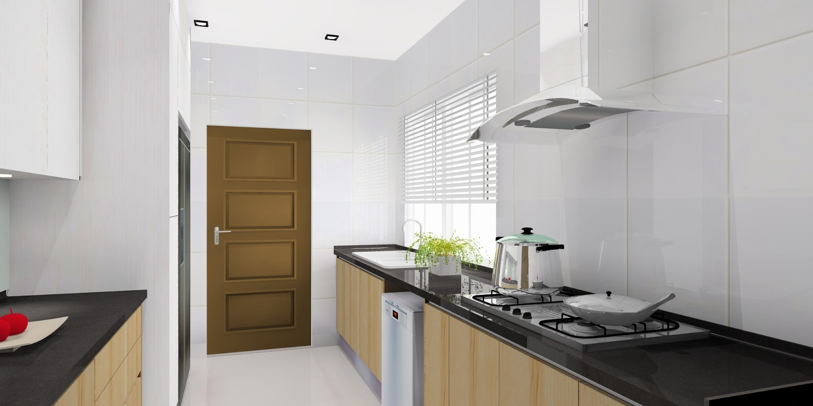 meridian interior design and kitchen design in kuala open dry and wet kitchen spaces combines a mix of light