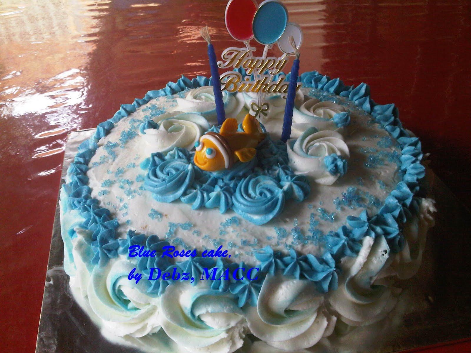 Happy Birthday Blue Roses