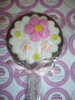 doce pirulito chocolate jardim flores