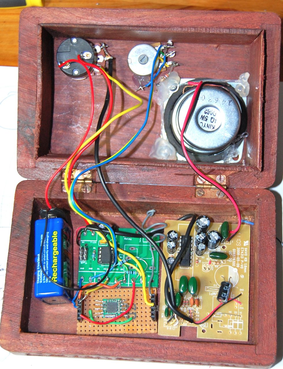 Dr Monks Diy Electronics Blog Steampunk Fm Radio Part 2 Am Receiver Simple Circuit Pc It Uses The Amp And Speaker From A Scavenged Usb Powered Right Hand Side Tea5767 Module Breakout Described In An Earlier Post