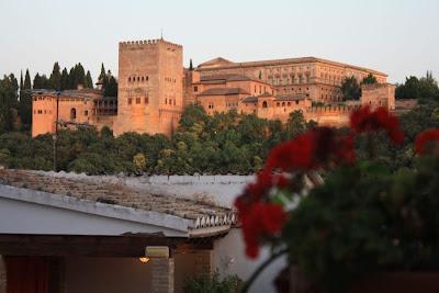 Nasrid Palace of La Alhambra from Carmen Aben Humeya