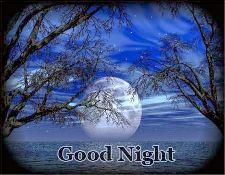 IT Masti Good Night SMS Quotes Facebook Moon Wallpaper