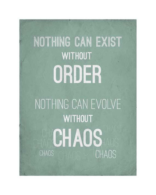 Nothing can exist without order. Nothing can evolve without chaos.