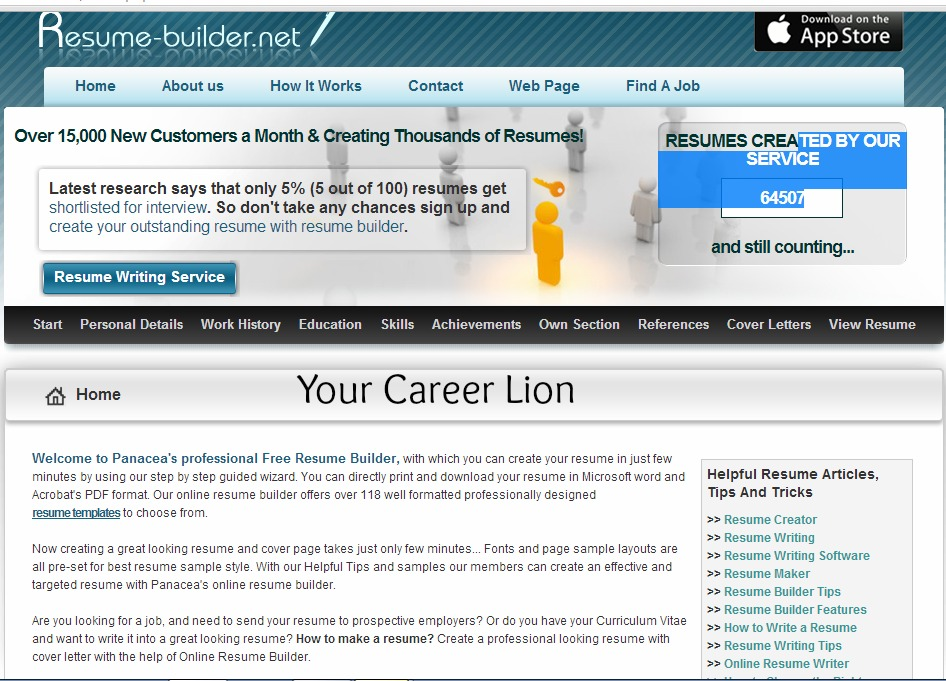 Resumes builder