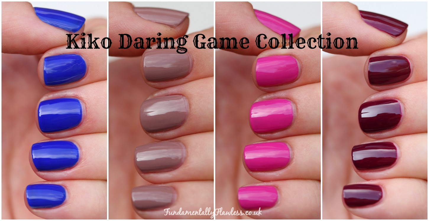 Kiko Daring Game Collection swatches and review