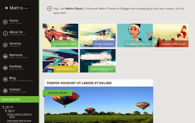 Conseil Iscomigoo #1: Sélection de templates Blogger, Metro Classic
