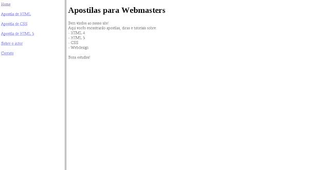 Curso de HTML online grátis. Apostila completa para download