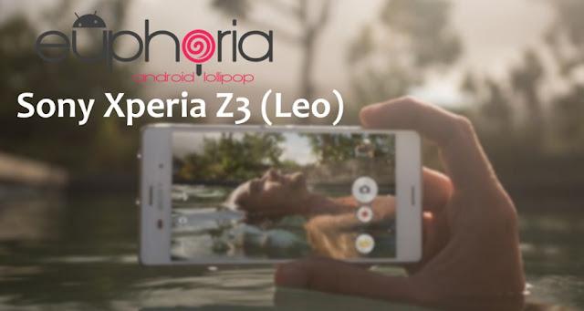 Euphoria os rom on sony Xperia Z3 leo  D6602, D6603