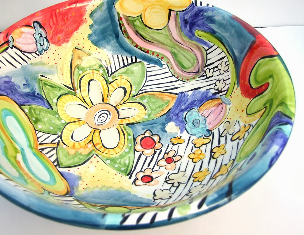 Jennifer jangles blog painting pottery for Pottery painting patterns