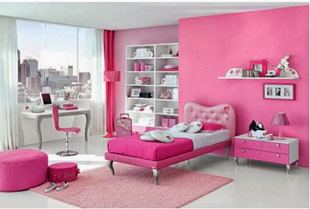 Pink Color Bedroom
