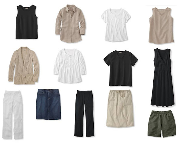 13-Piece Whatever's Clean Summer Wardrobe; 13 garments = 81 outfits