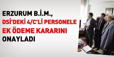 Erzurum Bölge İdare Mahkemesi 4/C Ek Ödeme Kararını Onadı