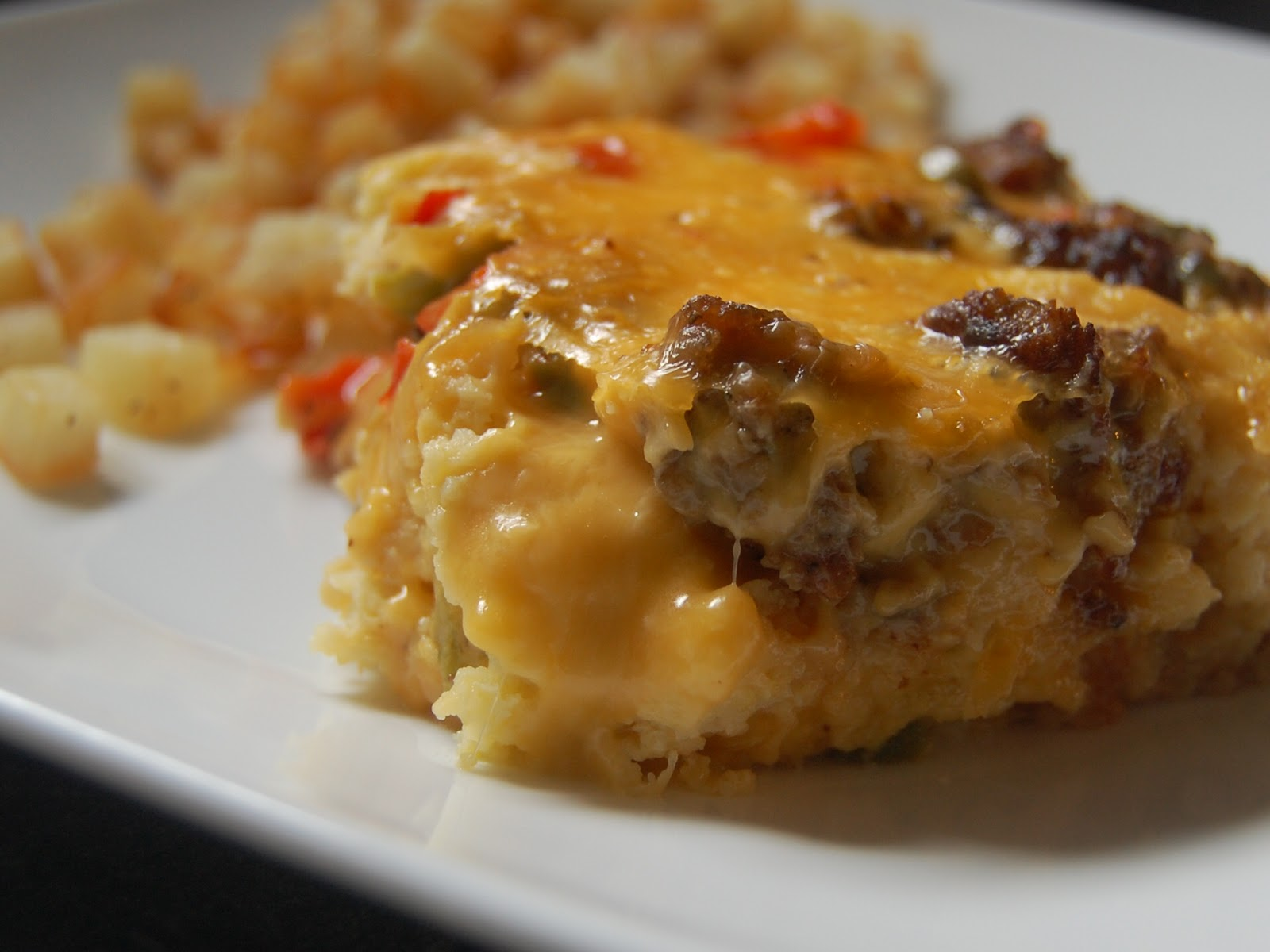 Cassie Craves: Maple Sausage and Waffle Breakfast Casserole