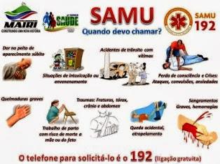 Quando e como devo chamar o SAMU 192?
