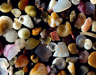 Beautiful picture of magnified grains of sand, the microcosm.