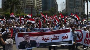 Demonstrasi pendukung Morsi