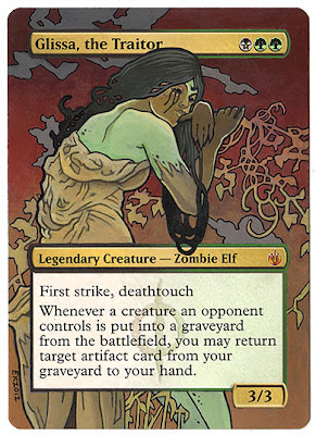 Glissa the Traitor Commander EDH general altered art magic the gathering glissa mtg deck commander deck klugalters eric klug altered art alter klug alter Alphonse