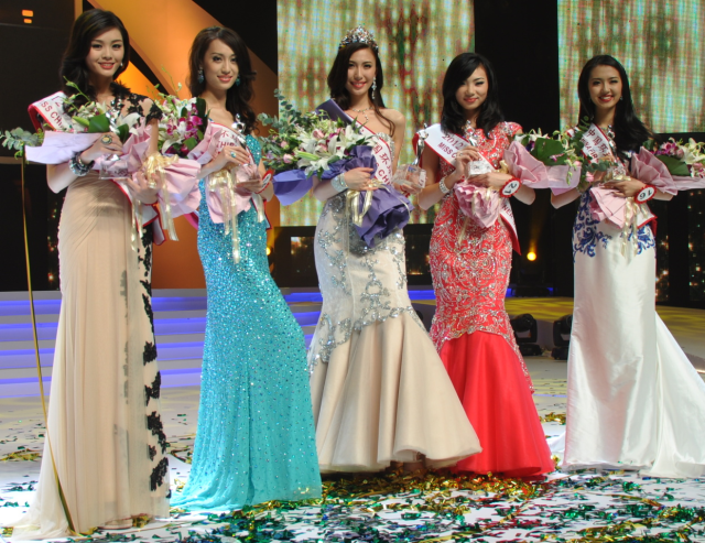Miss Universe China 2012 top 5 winners