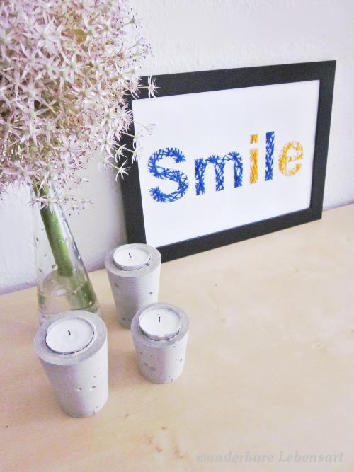 DIY: Besticktes Bild Smile