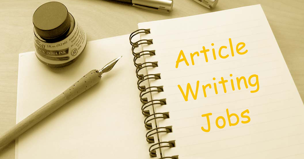 Article writing vacancies