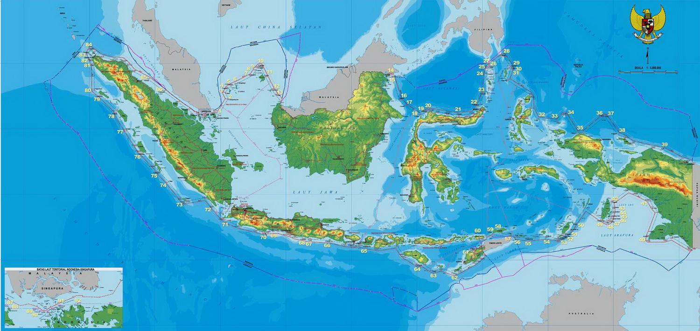 Peta Negara Kesatuan Republik Indonesia Besar dan Lengkap