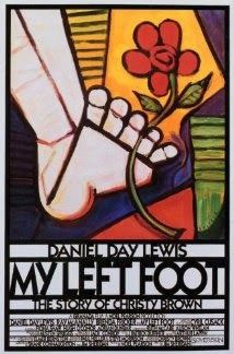 Art deco style movie poster for My Left Foot