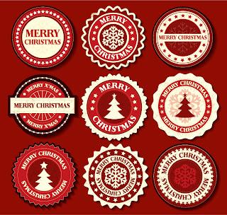 雪の結晶をデザインしたラベル christmas snowflake pattern label イラスト素材