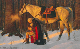 The Prayer at Valley Forge, painted by Arnold Friberg